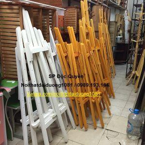 Bảng vẽ + Giá vẽ gỗ màu trắng BV60x80/GV02V