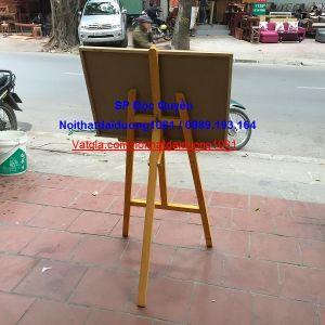 Bảng giá vẽ đa năng, giá gỗ đỡ bảng màu vàng BV60x80/GV02V