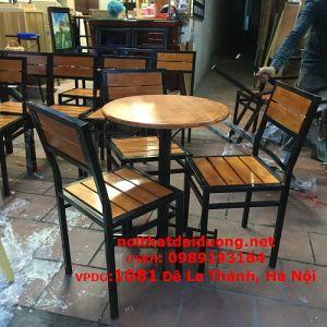Bộ bàn ghế cao su khung sắt BBG3960CS (Bàn + 2 Ghế)