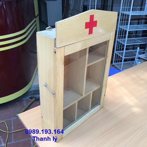 Thanh lý tủ thuốc nhỡ màu gỗ tự nhiên