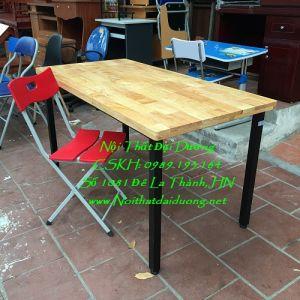 Bàn làm việc gỗ caosu + Ghế 3 mảnh Hòa Phát BLV1260TN+Ghế