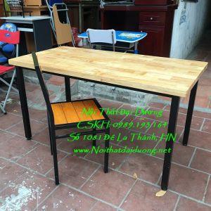 Bàn làm việc + Ghế sắt nan gỗ BLV1260TN + Ghế