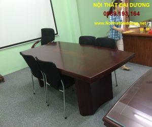 Bàn họp văn phòng BH 1m2 x 2m màu nâu