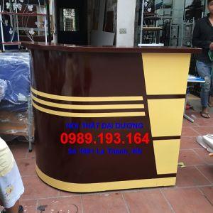 Bàn quầy lễ tân QLT10B màu cafe