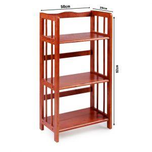Kệ sách đa năng KS3T50, kệ gỗ cao su tự nhiên 3T rộng 50cm