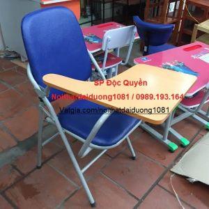 Ghế gấp liền bàn viết, ghế hội thảo, ghế cá nhân có bàn viết GLB04BS