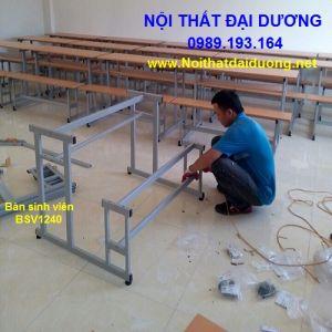 Bàn học sinh liền ghế không tựa BHS1204