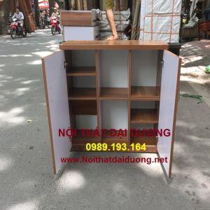 Tủ giày TG08MDF - Màu Xoan Đào + Trắng