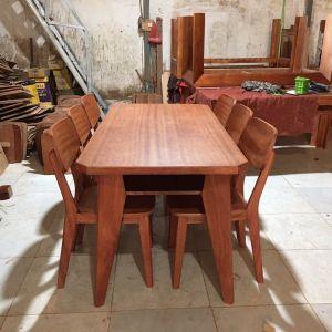Bộ bàn ghế phòng ăn gỗ xoan đỏ