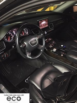 Thảm lót sàn Eco Carbon Audi A8 màu đen