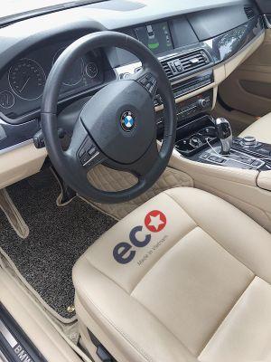 Thảm lót sàn Eco ô vuông 2 chỉ BMW seri 5 màu kem