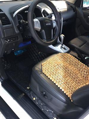 Thảm lót sàn Eco ô vuông Isuzu MU-X màu đen