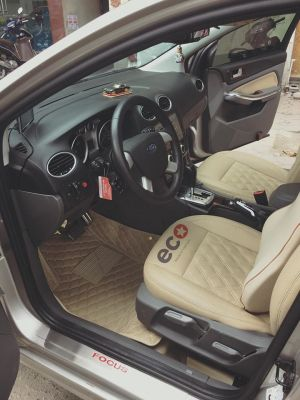 Thảm lót sàn Eco ô vuông 2 chỉ Ford Focus màu kem