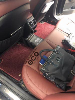Thảm lót sàn Eco Carbon đen rối đỏ Kia Optima