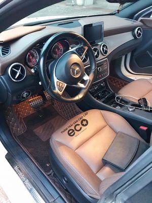 Thảm lót sàn Eco ô vuông 2 chỉ màu nâu Mercedes CLA