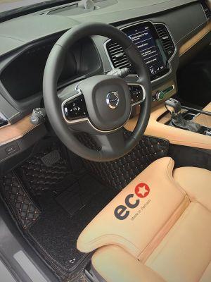 Thảm lót sàn Eco ô vuông 2 chỉ màu đen Volvo Xc90
