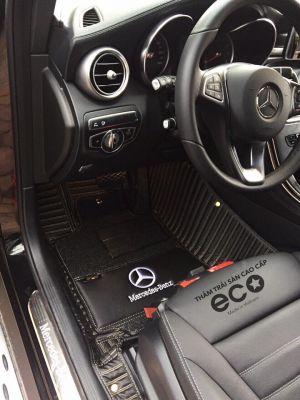 Thảm lót sàn Eco  Carbon 2 lớp màu đen Mercedes GLC