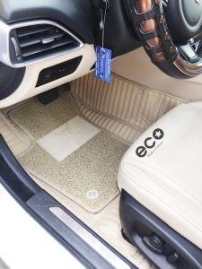 Thảm lót sàn Eco carbon Jaguar XE màu trắng