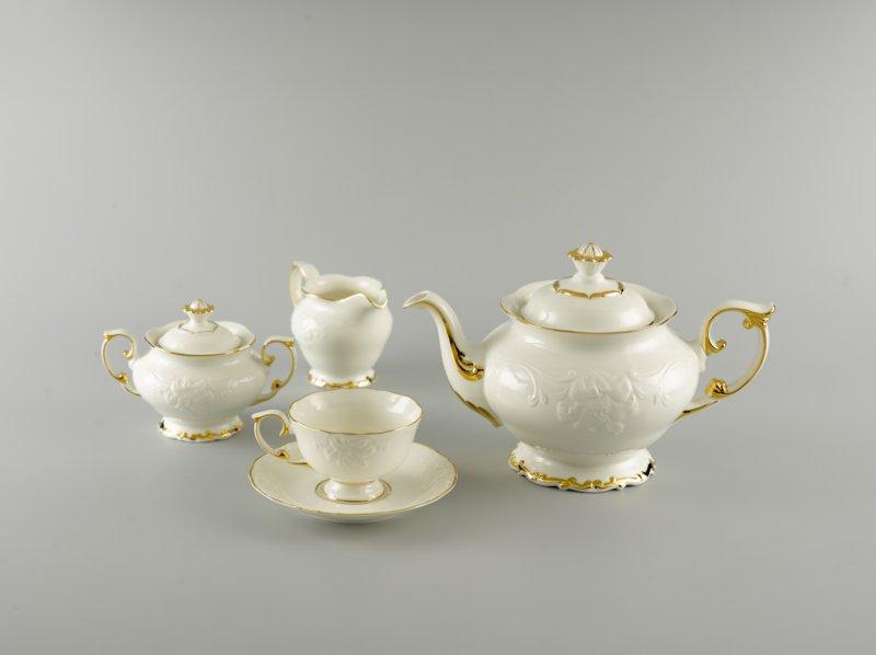 Bộ trà 1.3l CHỈ VÀNG (KHÔNG TÔ QUAI)