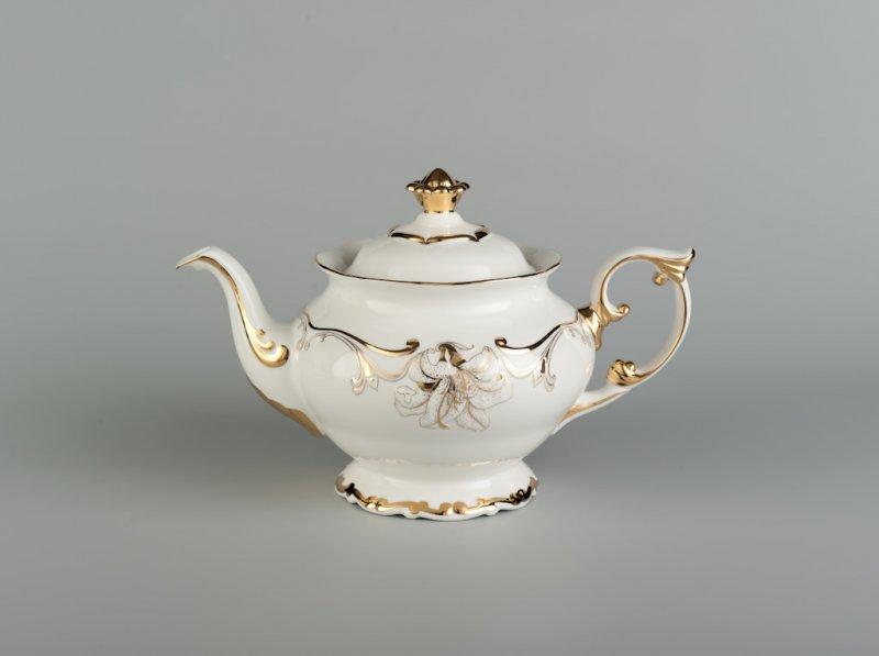 Bình trà 1.3l TRANG TRÍ HOA (VÀNG)