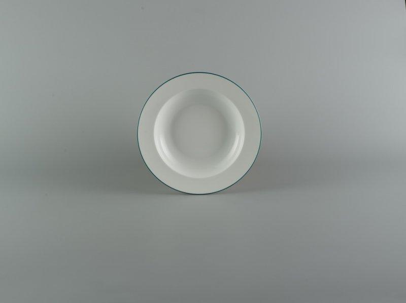 Dĩa súp 20cm CHỈ XANH LÁ