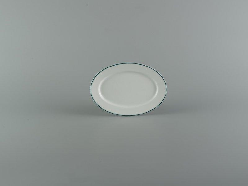 Dĩa oval 25cm CHỈ XANH LÁ