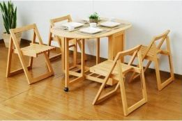 Ưu điểm và hạn chế khi sử dụng kiểu bàn ghế ăn gấp