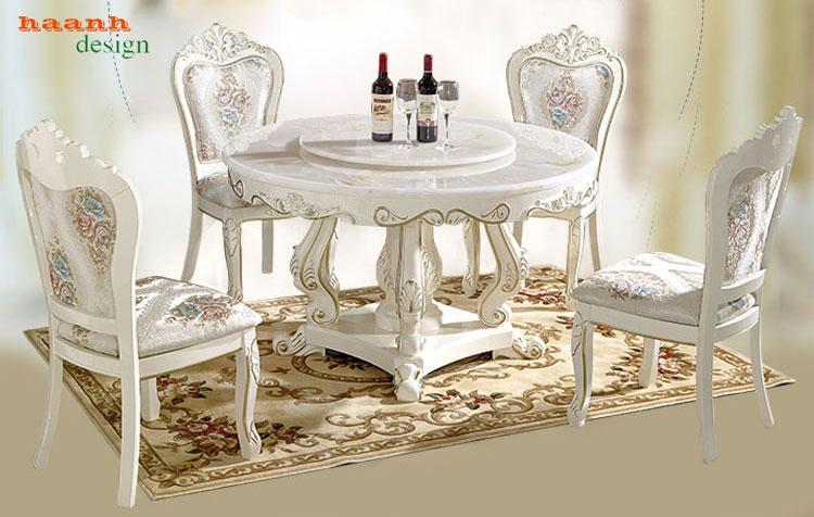 Những mẫu bàn ghế ăn tân cổ điển gỗ tự nhiên sang trọng.BGK 002