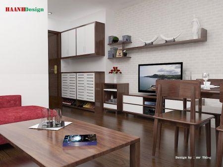 Thiết kế nội thất công trình chung cư Bắc Ninh