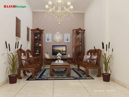 Thiết kế, thi công phòng khách khu Vĩnh Quỳnh – Hoàng Mai