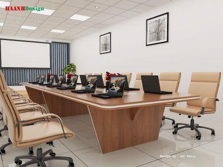 Thiết kế và sản xuất nội thất phòng họp công ty toàn cầu