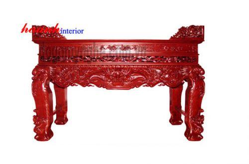 Sập thờ chạm gỗ gụ STC001