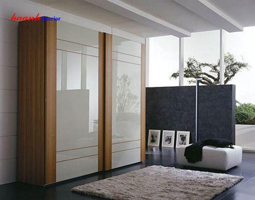 Tủ quần áo gỗ công nghiệp acrylic TAH003