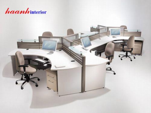Phòng nhân viên gỗ melamine VPN002