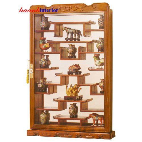 Tủ bày đồ mỹ nghệ gỗ hương GKB001