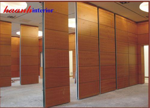 Vách ngăn di động gỗ veneer VDD002