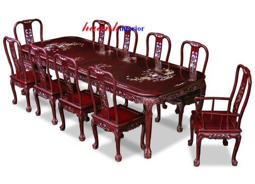 Bàn ghế ăn khảm BGC007