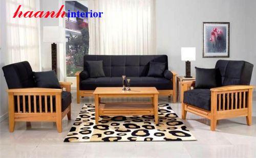 Sofa gỗ sồi tự nhiên cao cấp SFG007
