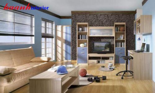 Tủ trang trí phòng khách hiện đại TPk008
