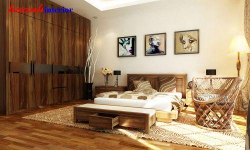 Giường ngủ gỗ óc chó BPN 011