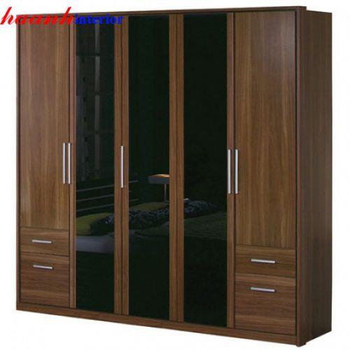 Tủ quần áo 5 cánh gỗ công nghiệp TAH008