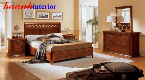 Giường ngủ gỗ tự nhiên GNC007