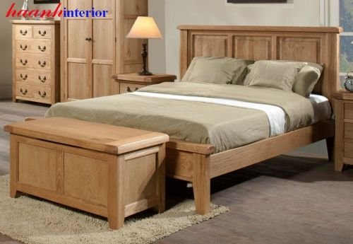 Giường ngủ gỗ sồi GNH017