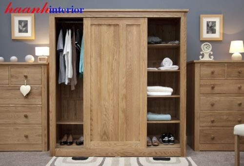 Tủ áo gỗ sồi cánh lùa TAH012