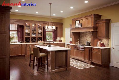 Tủ bếp gỗ xoan đào BTN012