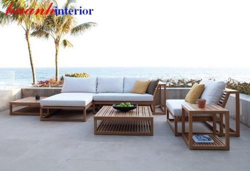 Sofa gỗ ngoài trời hiện đại  SNT003