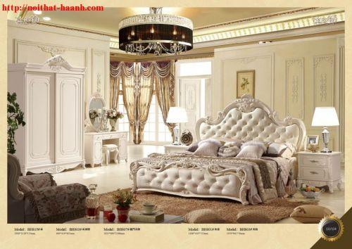 Giường ngủ tân cổ điển GNC013