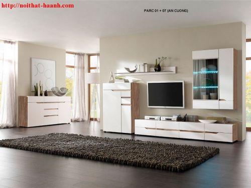 Trang trí phòng khách gỗ công nghiệp TPK014