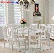 Bàn ghế ăn cổ điển BGNK003