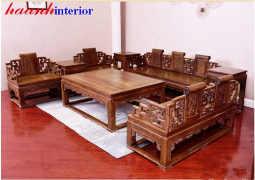 Bàn ghế gỗ tự nhiên giả cổ BGG017